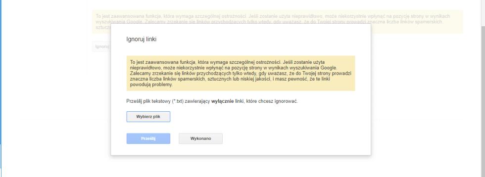 Blog - kasowanie szkodliwych linków. Disavow tool