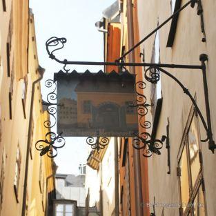 Sign in Gamla Stan, Stockholm, Sweden