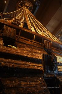 One of the 3 masts of Vasa, Stockholm, Sweden