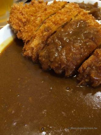 Curry tonkatsu in Biei, Hokkaido, Japan