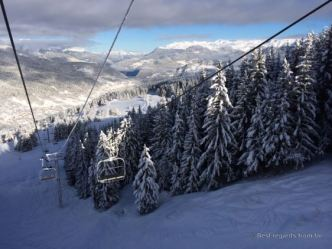 Up towards Courchevel, France