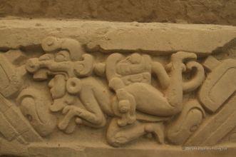 Frecoes relating the Maya mythology