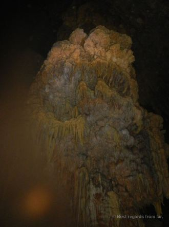 Stalactites inside the cave