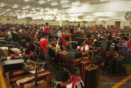 The production floor at Drew Estate, Esteli, Nicaragua
