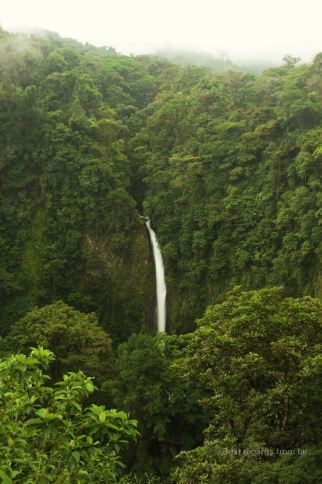 The waterfall of La Fortuna, Costa Rica