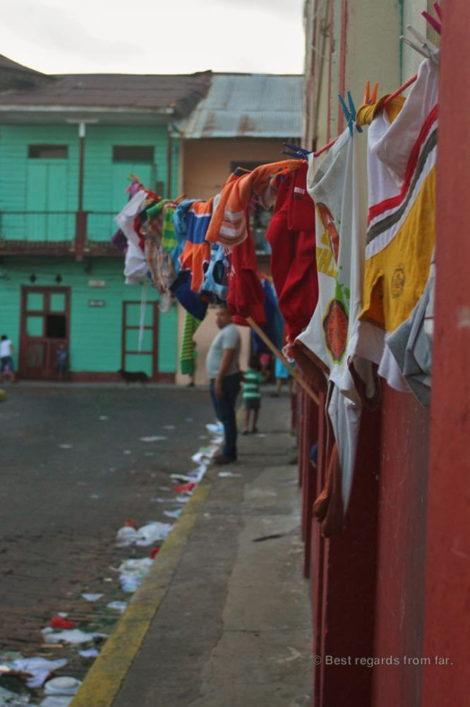 Typical street in Casco Viejo, Panama