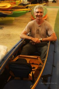 Eric Stiller, proud owner of the Manhattan Kayak Company, New York City