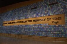 9/11 memorial, NYC: trying to remember the color of the sky on that september morning, by Spencer Finch