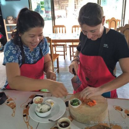 Our teacher Oay for our Thai cooking class