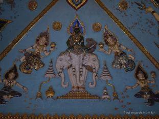 Detail of the ceiling, Patuxai, Vientiane, Laos