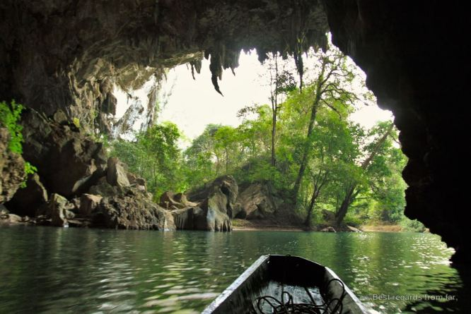 Getting out of the Kong Lor cave, the loop, Laos