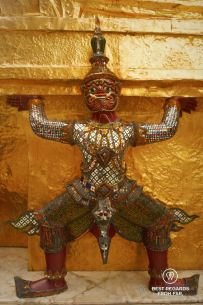 A monkey demon at the Grand Palace, Bangkok, Thailand