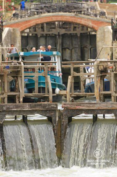 View through the locks of Fonseranes, Béziers