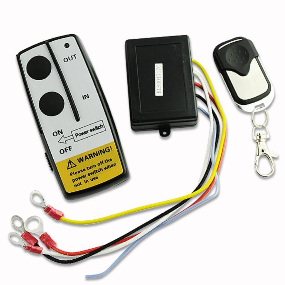 medium resolution of 12v 12volt wireless winch remote control handset for truck suv atv winch en1398 projector