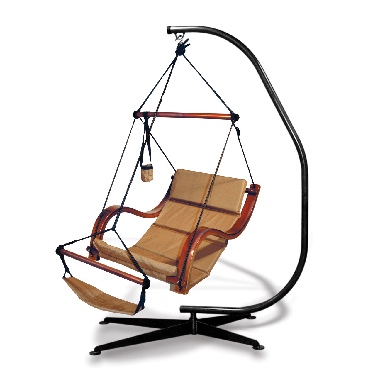 Hanging Chair Frame Best Rest Hammock Hanging Chair With C Frame Stand Tan