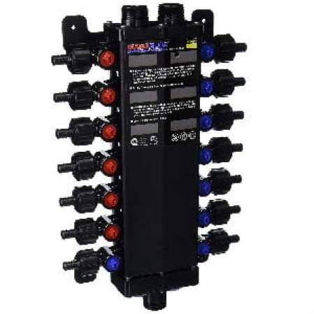 Viega 50143 PureFlow Zero Lead Poly Alloy PEX Crimp Manabloc With 14 Ports