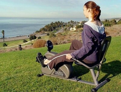 Get fit by using Recumbent exercise bike