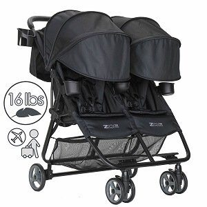 Zoe XL2 DELUXE Double Lightweight Twin Umbrella Stroller System