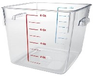Rubbermaid Commercial Space-Saving Square Food Containers