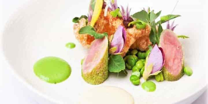 Salad Recipe: Ham hock, Pea, And Mint With Sous Vide