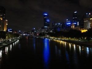 Melbourne bei Nacht.