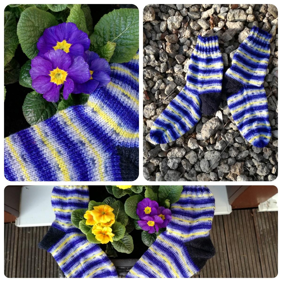 Stiefmütterchen-Socken