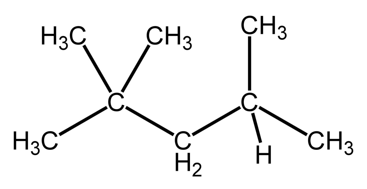 hight resolution of isooctane structure