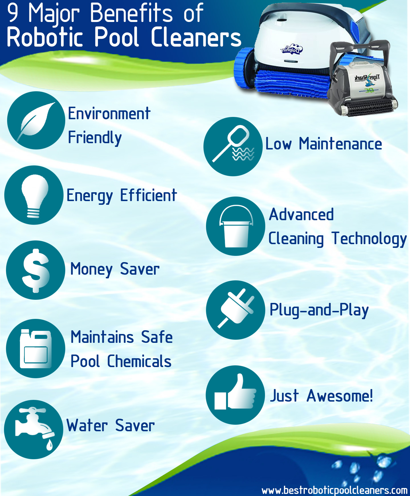 9 Major Awesome Benefits Of Robotic Pool Cleaners