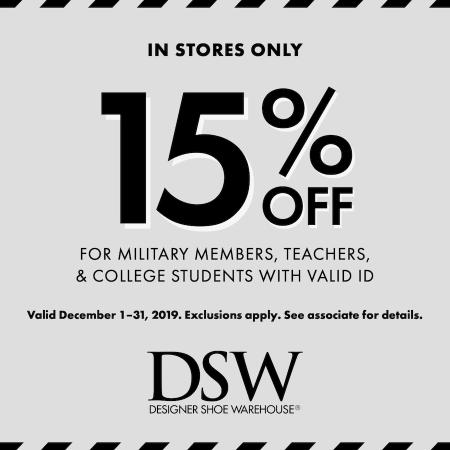 DSW 15% off_Dec2019