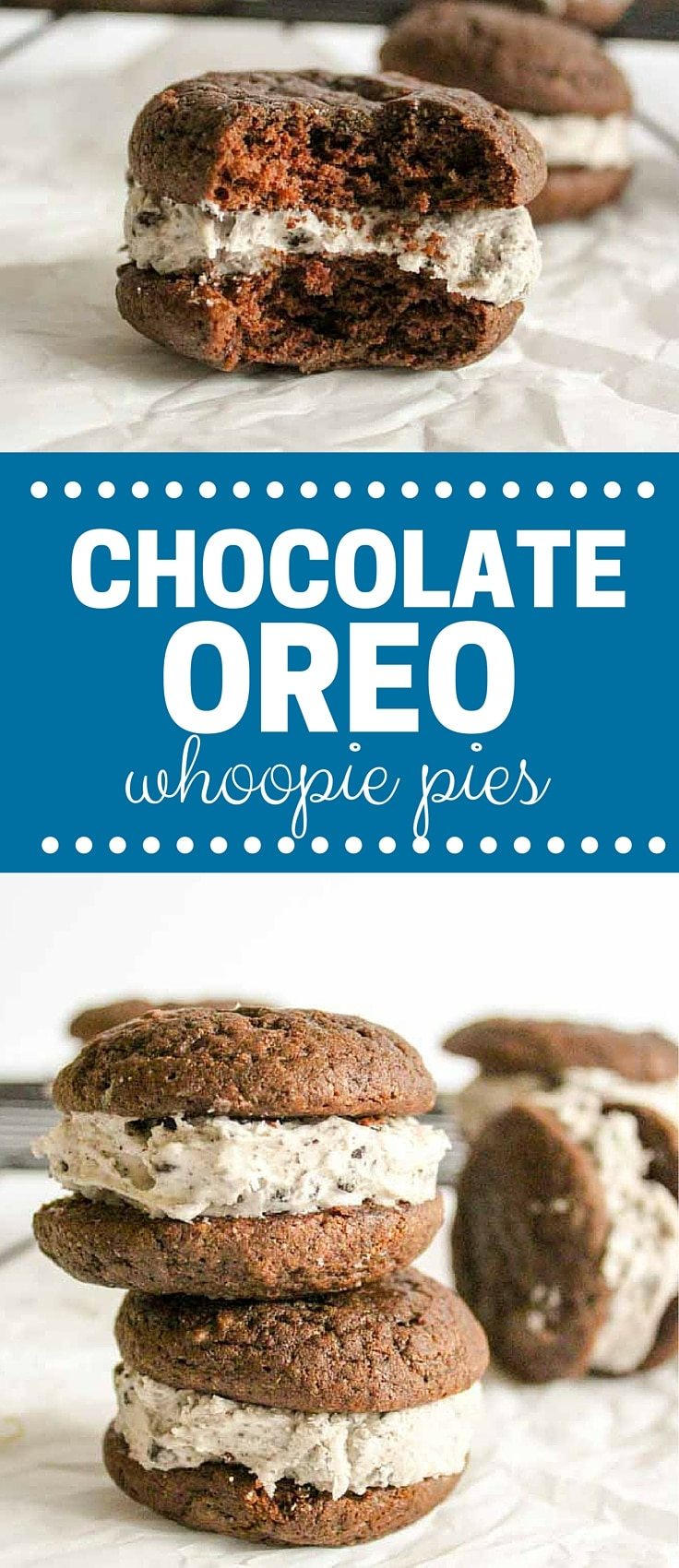 chocolate oreo whoopie pies