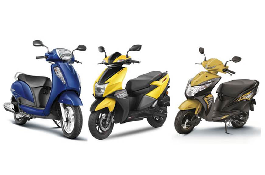 top 10 scoooty in India