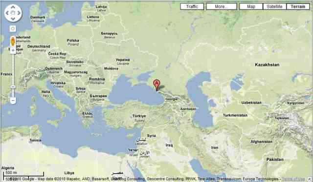 Russia Map Moscow And Sochi