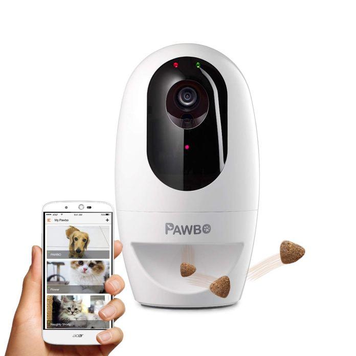 pawbo romote treat dispenser camera review
