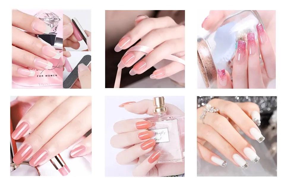 Polygel Nägel Kit MYSWEETY, 8 Farbe Nagellack Gel UV Rosa, auch für Anfänger, mit 8 Nagelgel / Nagelfeile / Nagelbürste / Überlack / Unterlack / 100Stück Nagelspitzen-Formen