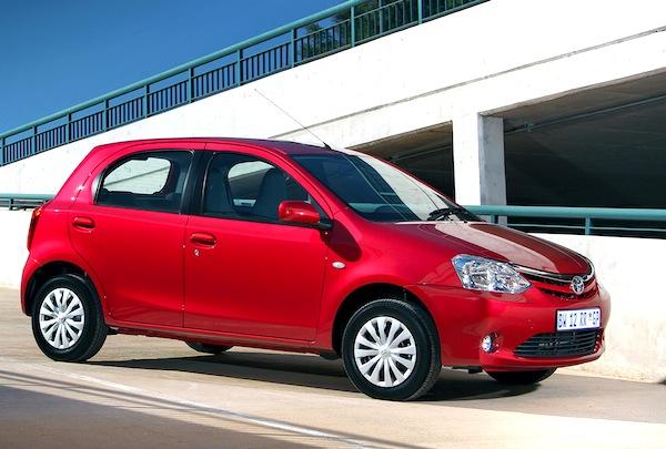 Toyota Etios South Africa July 2013