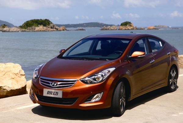 Hyundai Elantra Langdong China June 2013
