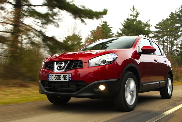 france march 2013 nissan qashqai in top 10 renault. Black Bedroom Furniture Sets. Home Design Ideas