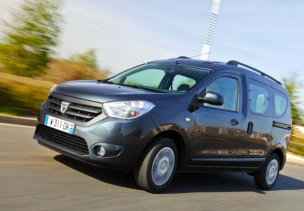 Dacia Dokker January 2013. Picture courtesy of L'Argus