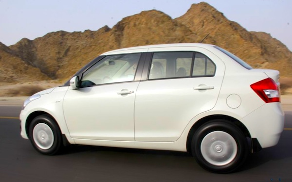 Maruti DZire India January 2013. Picture courtesy of motorbeam.com