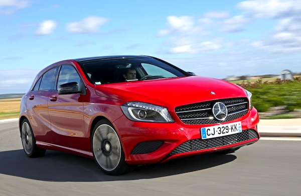 Mercedes A-Class France January 2013. Picture courtesy of L'Argus