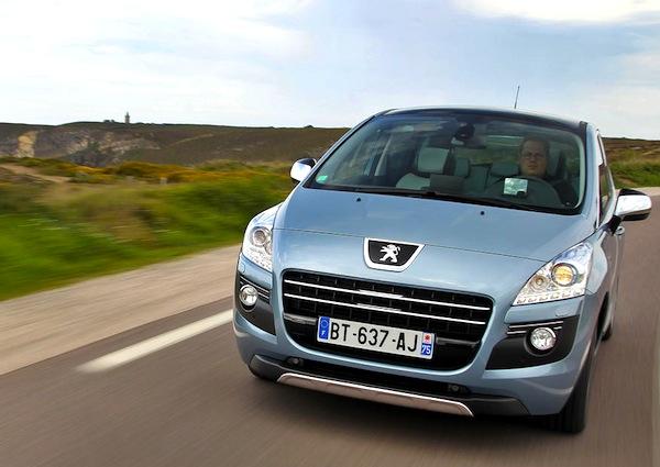 Peugeot 3008 Latvia January 2013