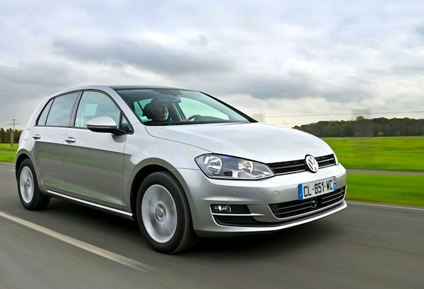 VW Golf France August 2013. Picture courtesy of L'Argus
