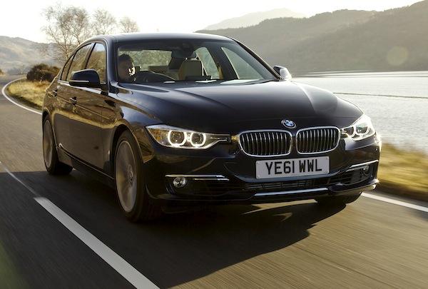BMW 3 Series UK August 2013