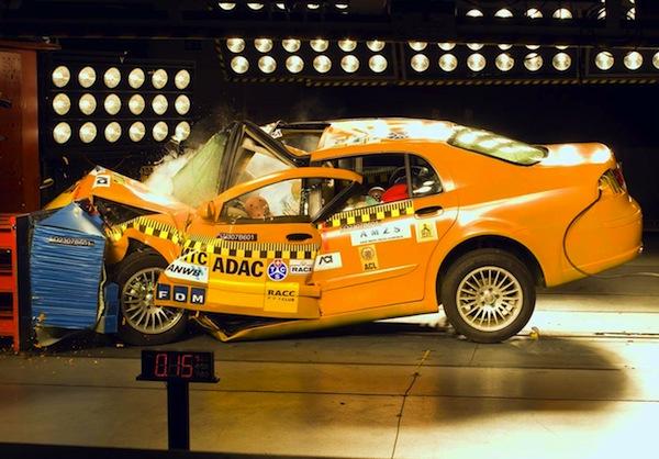 Brilliance BS6 Crash Test 2007. Picture courtesy of autozeitung.de