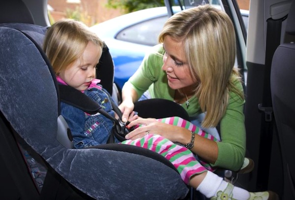 Child in car. Picture courtesy of zebra.lt