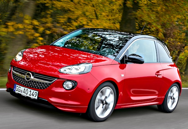 Opel Adam Germany May 2013. Picture courtesy of autozeitung.de
