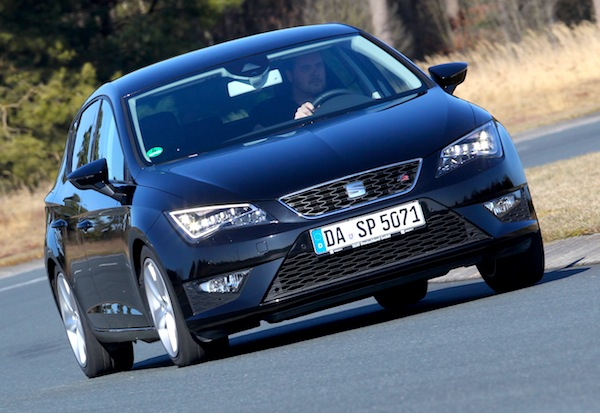 Seat Leon Germany August 2013. Picture courtesy of autozeitung.de