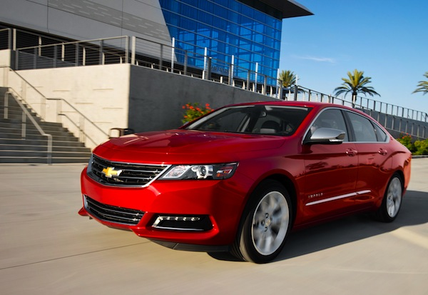 Chevrolet Impala USA October 2013. Picture courtesy of Motor Trend