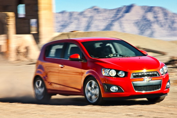 Chevrolet Sonic Mexico June 2013. Picture courtesy of Motor Trend