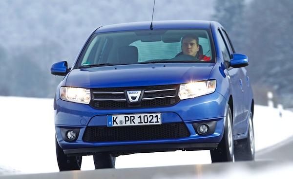 Dacia Sandero Germany June 2013. Picture courtesy of Auto Motor und Sport